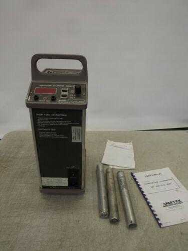 "AMETEK JOFRA Temperature Calibrator model 202 120V w 1/4 1/2"" 3/4 insertion Tube"