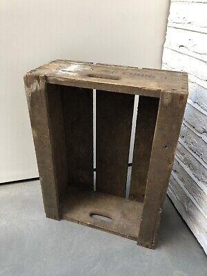 Large Vintage Wooden Fruit Display Crate Box