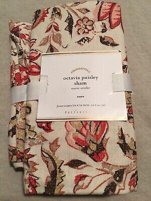 Set/2 Pottery Barn Octavia Paisley Euro Shams Beautiful!!