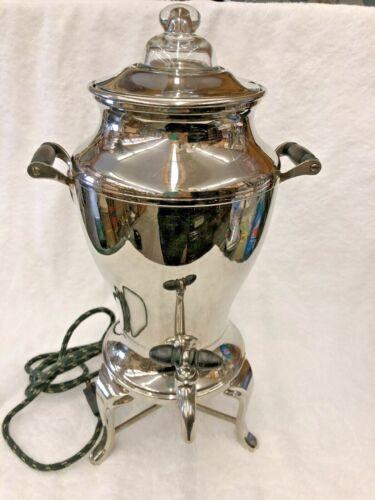 Vtg Universal  Model # E9179  Electric Coffee Percolator Urn Works