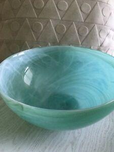 Alabaster glass bowl