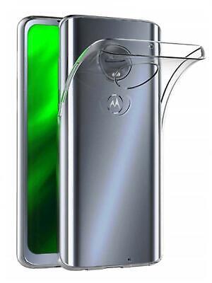 Funda de gel TPU carcasa silicona para movil Motorola Moto G7 Transparente