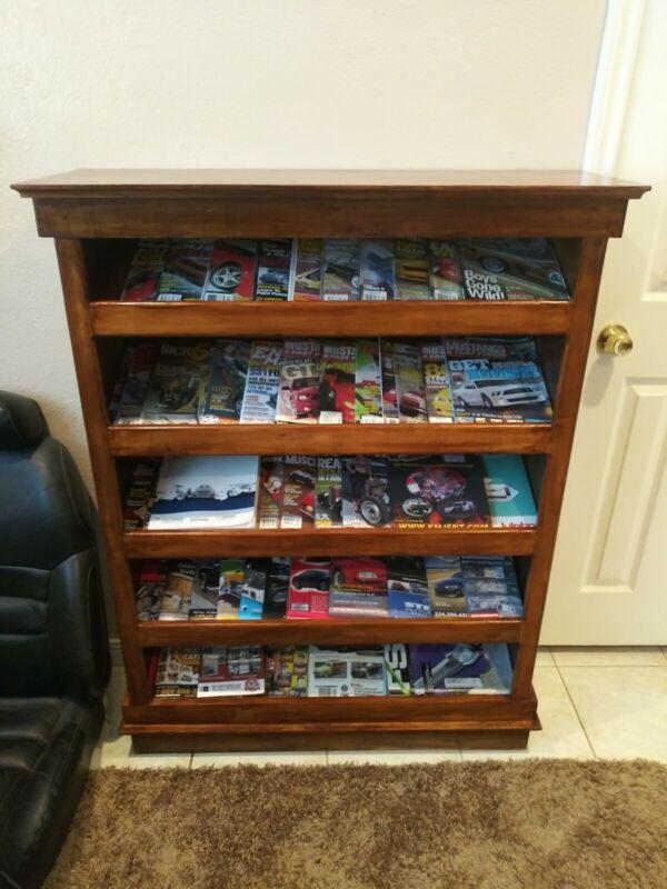 Handmade Solid Wood Magazine Rack