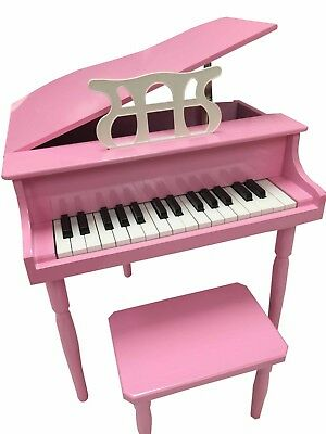 NEW CHILD'S PIANO BABY GRAND KIDS W/ BENCH TOY (PINK)
