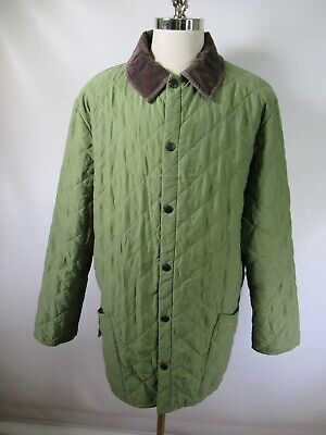 E7678 VTG BARBOUR NEW ESKDALE Quilted Jacket Size XL