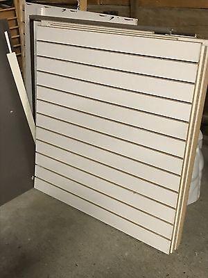 Lamellenwand MDF Wand Paneele Weiss 120 cm x 60 cm