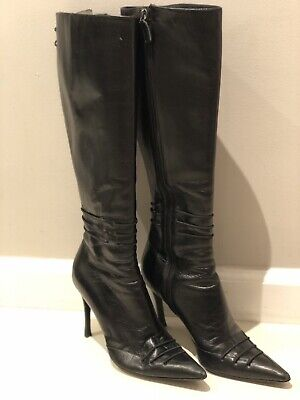 Gucci Vintage Knee High Leather Boots retail $1200