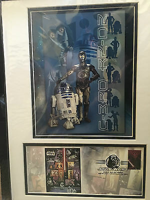 Fdoi Usps Star Wars 30Th Anniversary C 3Po R2 D2 Poster 1St Day Issue May25 2007