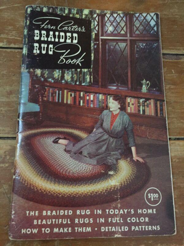 Fern Carter's Braided Rug Book - Detailed Patterns - Vintage Guide - Oregon