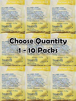 Choose 1 - 10 Packs Fermentis Saflager S-23 Dry Yeast Beer Lager - Pilsner Lager