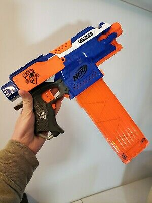 Nerf N-Strike Elite Stryfe Blaster Toy Gun w/18 Dart Clip TESTED WORKING