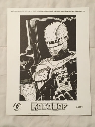 1992 ROBOCOP INDIVIDUALLY NUMBERED LITHOGRAPH PRINT DARK HORSE COMIC BOOK
