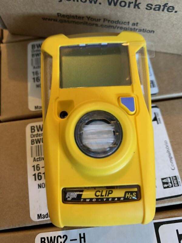 NEW BW Technologies BWC2-H Clip Single Gas H2S Monitor Detector - Yellow
