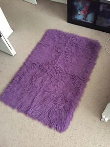 IKEA purple faux fur rug