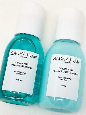 SACHAJUAN Ocean Mist Volume Shampoo 100ml & Conditioner 100ml NEW Travel Sizes