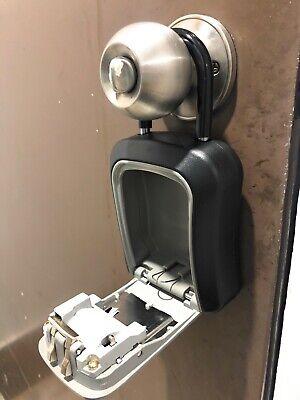 Padlock 4digit Combination Key Lock Box Safe Security Storage Case Organizer
