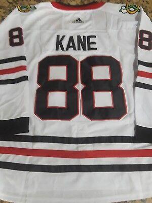 New! Chicago Blackhawks #88 Patrick Kane White Stitched Hockey Jersey Size Large