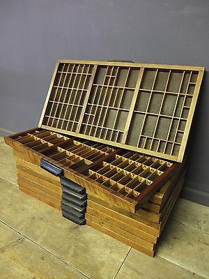 Vintage Printers Tray, Shadow Box, Trinket Display