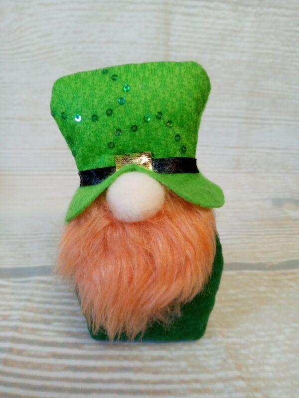 """New! MINI 5"""" Plush Leprechaun GNOME Shelf Sitter Doll Decor GREEN St Patrick"""