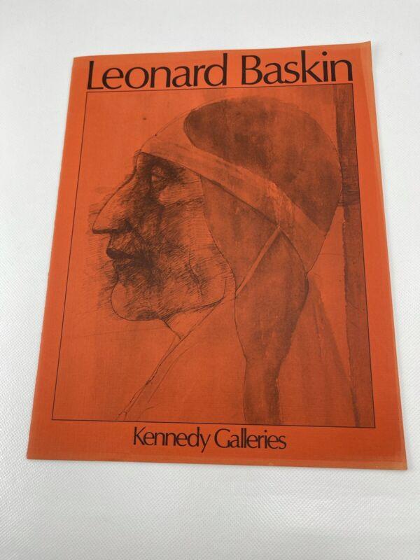 Leonard Baskin: Recent Watercolors and Lithographs- Art Catalogue