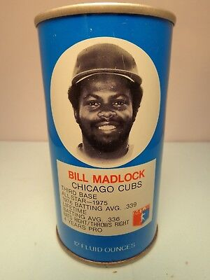 RC COLA BILL MADLOCK CHICAGO CUBS THIRD BASE BASEBALL PULL TAB SODA POP CAN