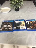 Batman and dying light and second son ps4