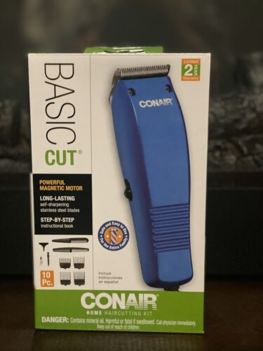 CONAIR Home Hair Cutting Clippers 10 PC Set Easy To Use Barb