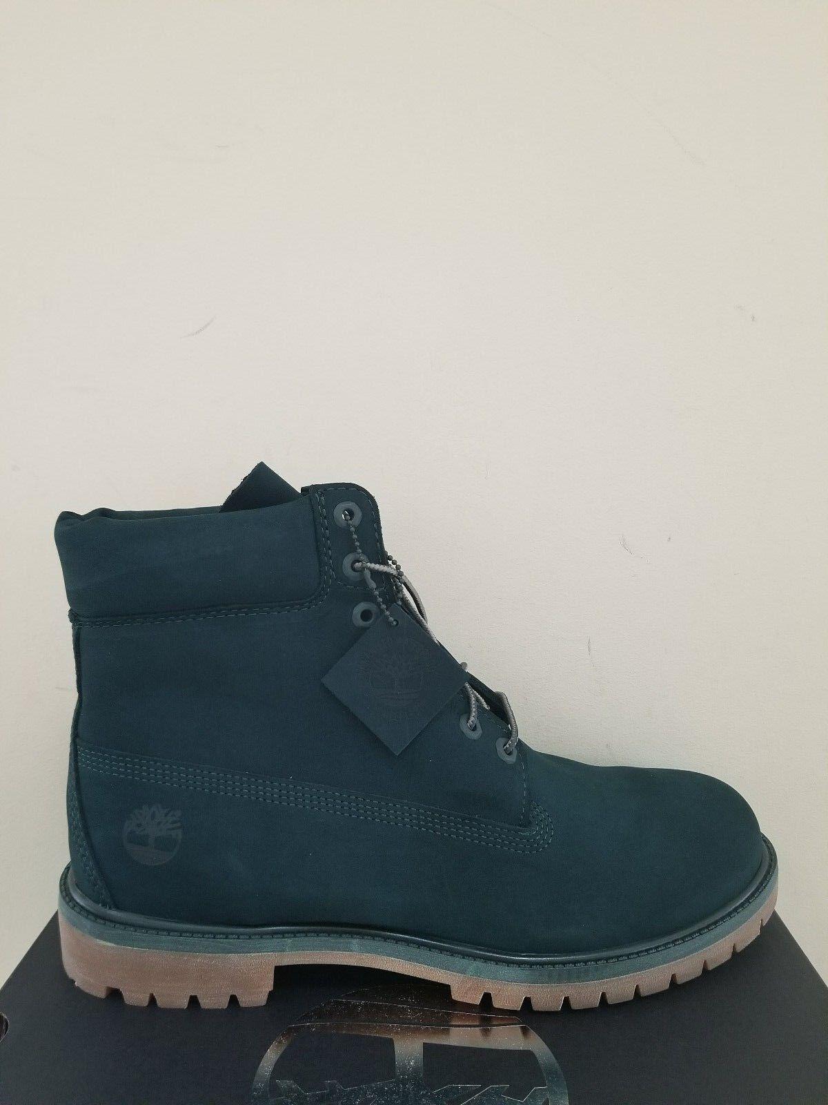 Timberland Men's 6-Inch Premium  Waterproof  Dark Green  Boots NIB