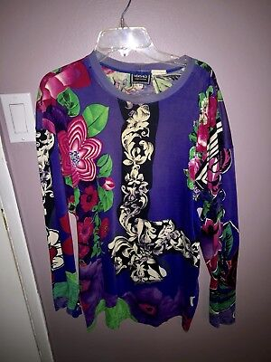 Vintage Men's Versace Long Sleeve Floral Short * Original Owner *