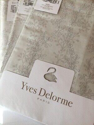 Yves Delorme MIJOUR GREGE SATIN Duvet Cover Set SUPERKING LUXURY