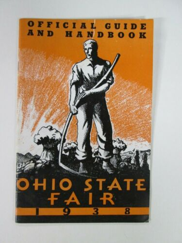 1938, Ohio State Fair, Official Guide & Handbook, Nice!