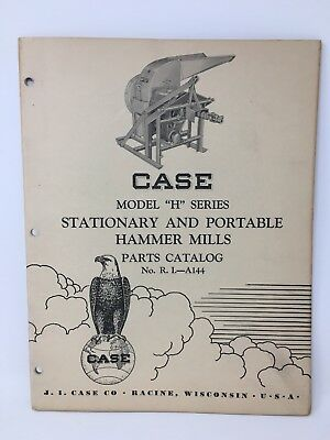 Case Model H Stationary Portable Hammer Mills Parts Catalog A144 18-1847
