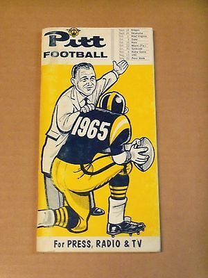 1965 Pitt Panthers  Football Media Guide  Complete