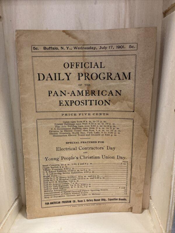 1901 Pan Am Expo Official Daily Program. Buffalo NY