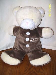 Warm Buddy Bear Plush With Microwave Pouch Pack 11