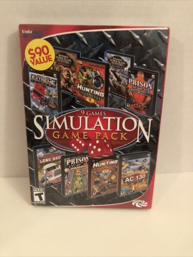 Computer Games - 9 Games Simulation Game Pack PC Games Windows 10 8 7 XP Computer Games Sim Pack
