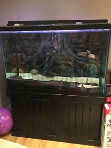 Complete 150 gallon fish tank and stand