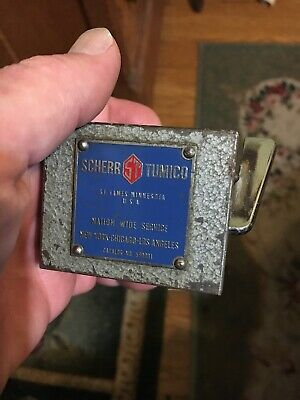 Vtg Indicator Magnetic Base Holder Machinists Inspection St Scherr Tumico 590001