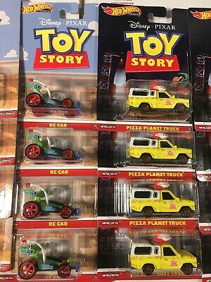 Hot Wheels Premium Disney Toy Story Pizza Planet Truck & RC Car Set of 2 (b2)