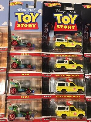 Hot Wheels Premium Disney Toy Story Pizza Planet Truck & RC Car Set of 2 (b2)