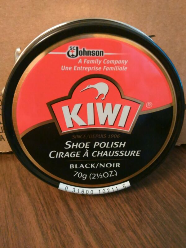 JUMBO SIZE Kiwi Shoe Polish, Black,  70 g / 2.5 oz, Brand New, Free U.S. Ship