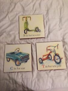 "Wall Plaques ""Art in Motion"" $20 for ALL 3"