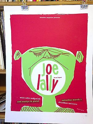 JOE LALLY (FUGAZI) CONCERT POSTER by Henry Owings edn of 35
