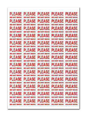 3250 - Please Do Not Bend - Small Labels Stickers