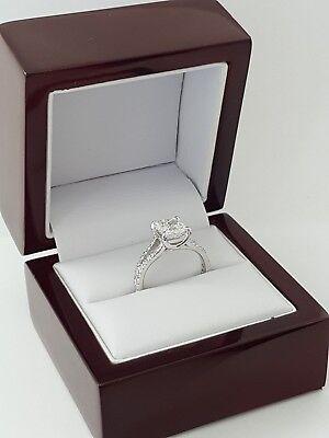 2.59 ct Platinum Cushion Cut Diamond Split Shank Engagement Ring GIA F / VVS1 11