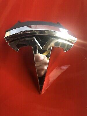 TESLA MODEL S Front Bumper Upper Grille Badge Emblem D90 1047884-00-D 2016