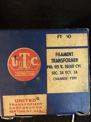 Utc United Transformer Co. Filament Transformer Ft-10