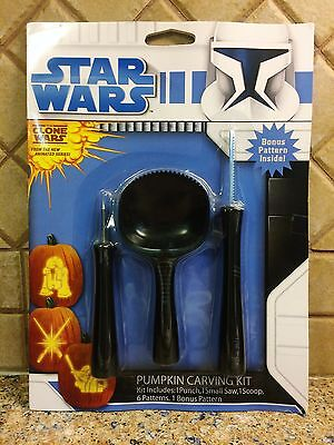 Starwars Pumpkin Carving (Star Wars Clone Wars Pumpkin Carving Kit NIP 2012 Bonus)