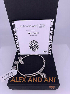 Alex and Ani Pinecone Charity By Design Silver