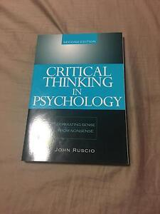Critical thinking in psychology 2ed- John Ruscio Duncraig Joondalup Area Preview